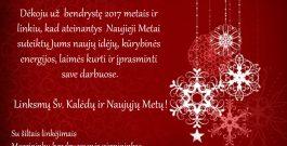 Linksmų Šv. Kalėdų ir Naujųjų Metų